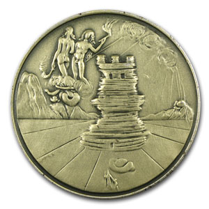 2.22 oz Silver Rounds - 12 Tribes of Israel (Simeon)